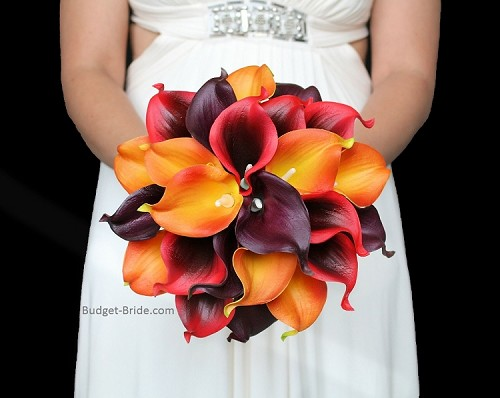 Autumn Red Calla Package