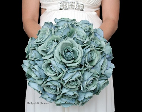Teal Green Brides Bouquet