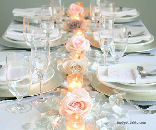 Silver and Blush Head Table Pro Pack