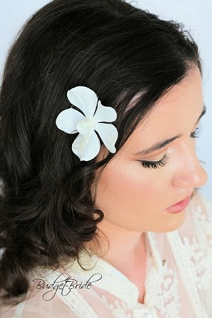 Ivory Orchid Hairpin