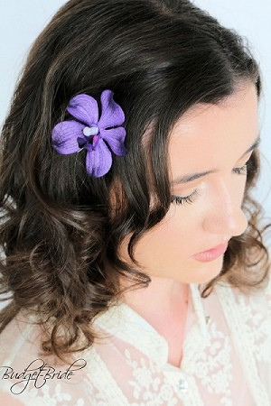 Purple Orchid Hairpin