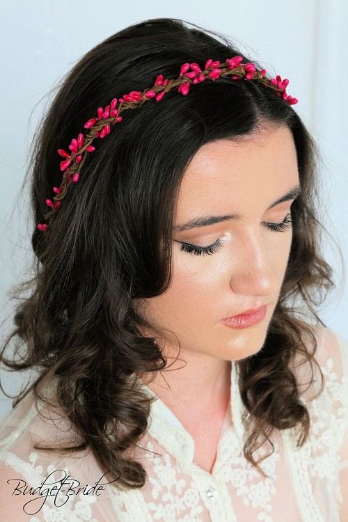 Hot Pink Berry Head Wreath