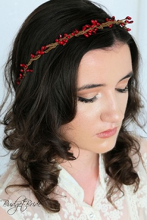 Red Berry Head Wreath