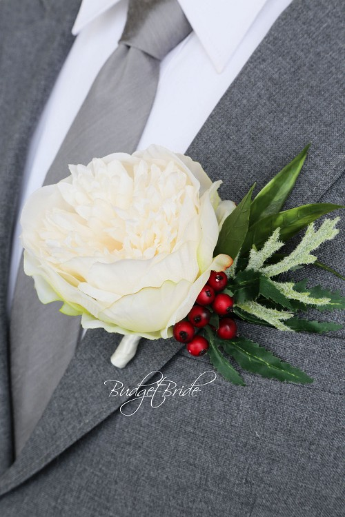 Forest Large Boutonniere