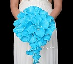 Turquoise Waterfall Brides Bouquet